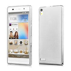 Cover Silicone Trasparente Ultra Sottile Morbida per Huawei Ascend P6 Grigio