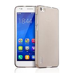 Cover Silicone Trasparente Ultra Sottile Morbida per Huawei Honor 6 Grigio