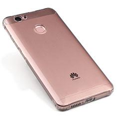 Cover Silicone Trasparente Ultra Sottile Morbida per Huawei Nova Grigio