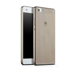 Cover Silicone Trasparente Ultra Sottile Morbida per Huawei P8 Lite Grigio