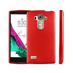 Cover Silicone Trasparente Ultra Sottile Morbida per LG G4 Beat Rosso