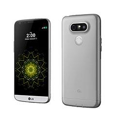 Cover Silicone Trasparente Ultra Sottile Morbida per LG G5 Grigio