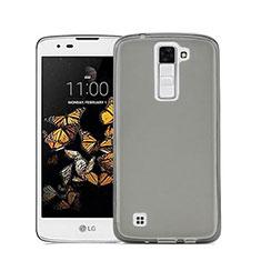 Cover Silicone Trasparente Ultra Sottile Morbida per LG Stylus 2 Plus Grigio