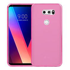 Cover Silicone Trasparente Ultra Sottile Morbida per LG V30 Rosa
