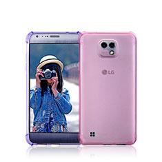 Cover Silicone Trasparente Ultra Sottile Morbida per LG X Cam Rosa