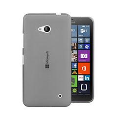 Cover Silicone Trasparente Ultra Sottile Morbida per Microsoft Lumia 640 Grigio