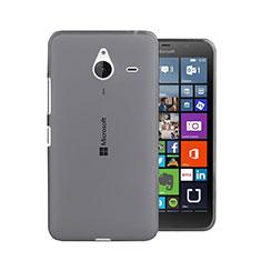 Cover Silicone Trasparente Ultra Sottile Morbida per Microsoft Lumia 640 XL Lte Grigio