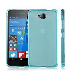 Cover Silicone Trasparente Ultra Sottile Morbida per Microsoft Lumia 650 Blu