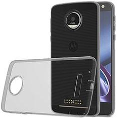 Cover Silicone Trasparente Ultra Sottile Morbida per Motorola Moto Z Play Grigio