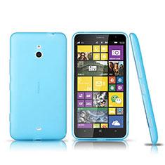 Cover Silicone Trasparente Ultra Sottile Morbida per Nokia Lumia 1320 Blu