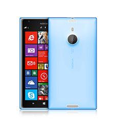 Cover Silicone Trasparente Ultra Sottile Morbida per Nokia Lumia 1520 Blu