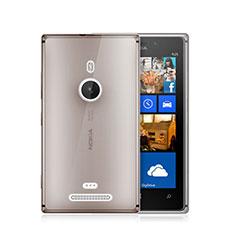Cover Silicone Trasparente Ultra Sottile Morbida per Nokia Lumia 925 Grigio