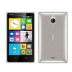 Cover Silicone Trasparente Ultra Sottile Morbida per Nokia X2 Dual Sim Grigio