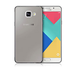 Cover Silicone Trasparente Ultra Sottile Morbida per Samsung Galaxy A3 (2016) SM-A310F Grigio