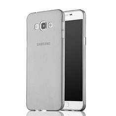 Cover Silicone Trasparente Ultra Sottile Morbida per Samsung Galaxy A7 Duos SM-A700F A700FD Grigio