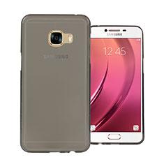 Cover Silicone Trasparente Ultra Sottile Morbida per Samsung Galaxy C7 SM-C7000 Grigio