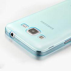 Cover Silicone Trasparente Ultra Sottile Morbida per Samsung Galaxy Core Prime G360F G360GY Blu