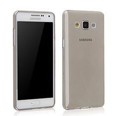 Cover Silicone Trasparente Ultra Sottile Morbida per Samsung Galaxy Grand 3 G7200 Grigio