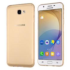 Cover Silicone Trasparente Ultra Sottile Morbida per Samsung Galaxy J5 Prime G570F Oro