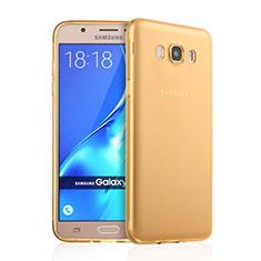 Cover Silicone Trasparente Ultra Sottile Morbida per Samsung Galaxy J7 (2016) J710F J710FN Oro