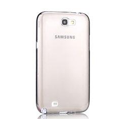 Cover Silicone Trasparente Ultra Sottile Morbida per Samsung Galaxy Note 2 N7100 N7105 Grigio