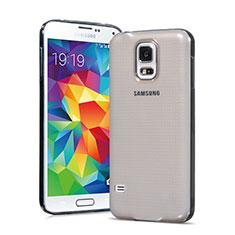 Cover Silicone Trasparente Ultra Sottile Morbida per Samsung Galaxy S5 G900F G903F Grigio