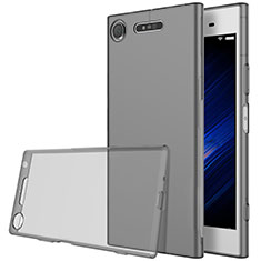 Cover Silicone Trasparente Ultra Sottile Morbida per Sony Xperia XZ1 Grigio