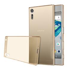 Cover Silicone Trasparente Ultra Sottile Morbida per Sony Xperia XZs Oro