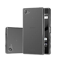 Cover Silicone Trasparente Ultra Sottile Morbida per Sony Xperia Z5 Compact Grigio