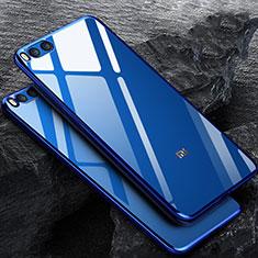 Cover Silicone Trasparente Ultra Sottile Morbida per Xiaomi Mi Note 3 Blu