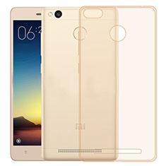 Cover Silicone Trasparente Ultra Sottile Morbida per Xiaomi Redmi 3 High Edition Oro