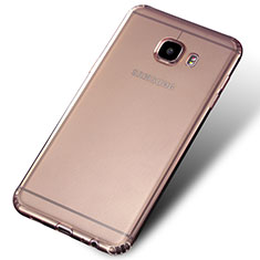 Cover Silicone Trasparente Ultra Sottile Morbida Q02 per Samsung Galaxy C7 SM-C7000 Chiaro