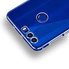 Cover Silicone Trasparente Ultra Sottile Morbida R01 per Huawei Honor 8 Chiaro