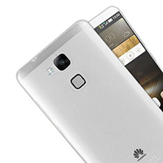 Cover Silicone Trasparente Ultra Sottile Morbida R01 per Huawei Mate 7 Chiaro