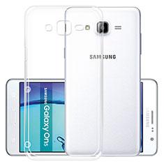 Cover Silicone Trasparente Ultra Sottile Morbida R01 per Samsung Galaxy On5 G550FY Chiaro