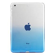 Cover Silicone Trasparente Ultra Sottile Morbida Sfumato per Apple iPad Mini 3 Blu