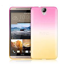 Cover Silicone Trasparente Ultra Sottile Morbida Sfumato per HTC One E9 Plus Rosa