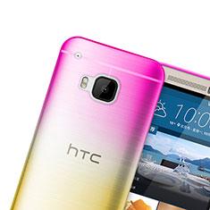Cover Silicone Trasparente Ultra Sottile Morbida Sfumato per HTC One M9 Rosa