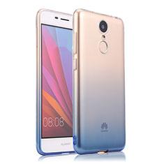 Cover Silicone Trasparente Ultra Sottile Morbida Sfumato per Huawei Enjoy 6 Blu