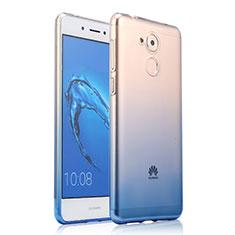 Cover Silicone Trasparente Ultra Sottile Morbida Sfumato per Huawei Enjoy 6S Blu