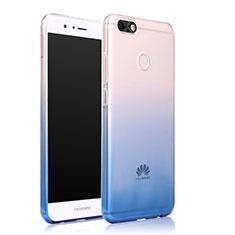 Cover Silicone Trasparente Ultra Sottile Morbida Sfumato per Huawei Enjoy 7 Blu