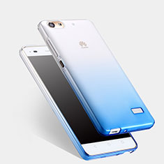 Cover Silicone Trasparente Ultra Sottile Morbida Sfumato per Huawei G Play Mini Blu