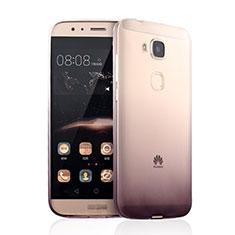 Cover Silicone Trasparente Ultra Sottile Morbida Sfumato per Huawei G7 Plus Marrone