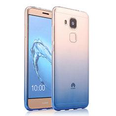 Cover Silicone Trasparente Ultra Sottile Morbida Sfumato per Huawei G9 Plus Blu