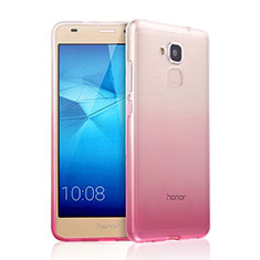 Cover Silicone Trasparente Ultra Sottile Morbida Sfumato per Huawei GR5 Mini Rosa