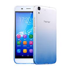 Cover Silicone Trasparente Ultra Sottile Morbida Sfumato per Huawei Honor 4A Blu