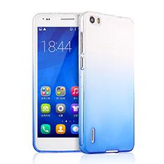 Cover Silicone Trasparente Ultra Sottile Morbida Sfumato per Huawei Honor 6 Blu