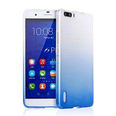 Cover Silicone Trasparente Ultra Sottile Morbida Sfumato per Huawei Honor 6 Plus Blu