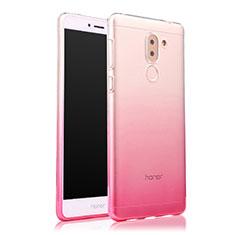 Cover Silicone Trasparente Ultra Sottile Morbida Sfumato per Huawei Honor 6X Pro Rosa