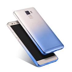 Cover Silicone Trasparente Ultra Sottile Morbida Sfumato per Huawei Honor 7 Dual SIM Blu